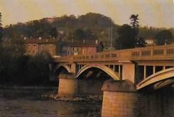 Le pont franchissant la Meurthe