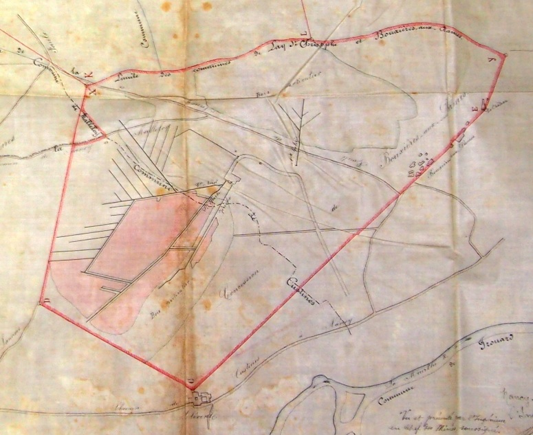 Concession de Bouxières en 1890