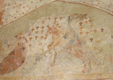 St Georges tue le dragon pour sauver la princesse