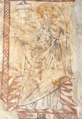 Ste Barbe tient la tour dans laquelle elle a été enfermée